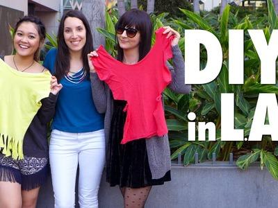 Reto DIY en LA | Cut out t shirt in LA with Danielle Noce & JaaackJack