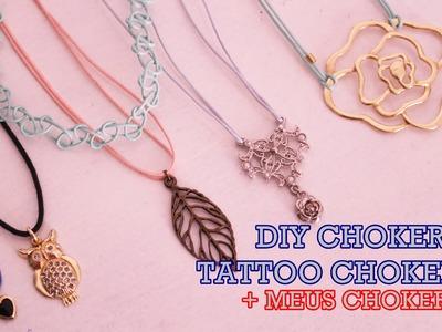 ▪ DIY: Choker.Tattoo Choker + Meus Chokers! (Colar Tatuagem) | Por Vanessa Malandrin