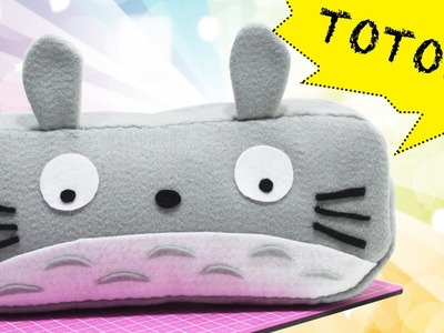 DIY -  Estojo Totoro -  Pencil Case -  Segredos de Aline