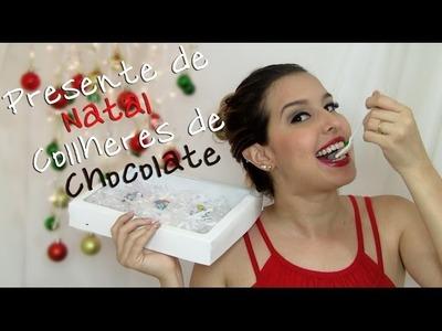 DIY- Presente de Natal - Colheres de chocolate. Thabatta Campos