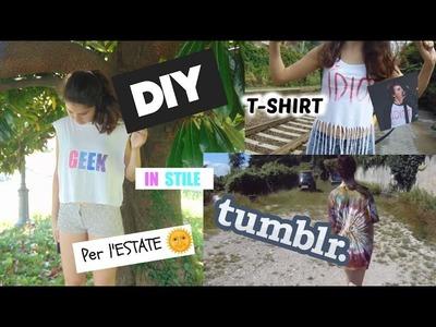 DIY  T-SHIRT IN STILE TUMBLR PER L'ESTATE | Nerea Bruno