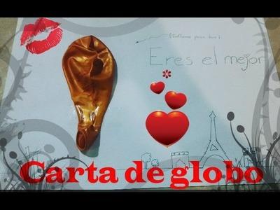 Carta de globo para San Valentin - DIY - Kystutorial
