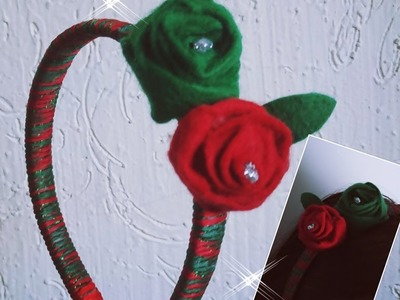 DIY FLOR  ROSAS DE FIELTRO   (FLOWER PINK CLOTH FELT)