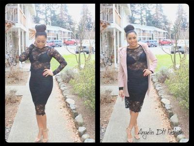 ✂︎   DIY Lace Crop Top & Skirt \ DIY Falda Y Crop Top En Encaje  ✂︎