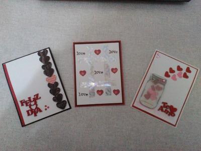 TUTORIAL DIY Tarjetas para dia del amor y la amistad  scrapbook scrapbooking