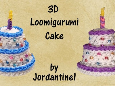 3D Cake Loomigurumi Amigurumi Rainbow Loom Band Crochet Birthday Gift Hook Only Лумигуруми