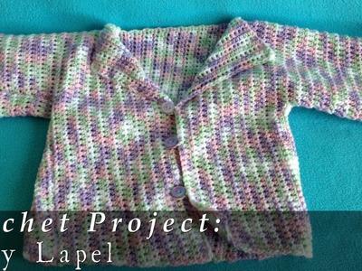 Baby Lapel Sweater { Crochet }