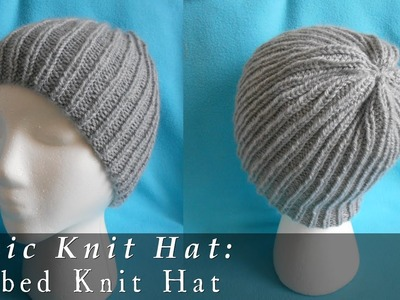 Basic Ribbed Beanie { Knit }