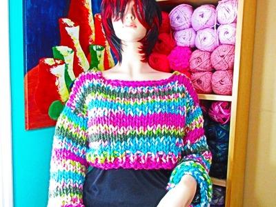 Como tejer abrigo corto  para adulto a dos agujas   con Ruby Stedman