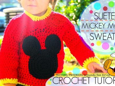 CROCHET SUETER de Mickey Mouse | Tejiendo Con Erica