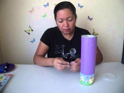 DIY- Alcancias hechas con botes de pringles - Creative Flower