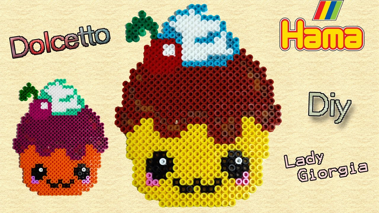 Dolcetto Kawaii con Hama Beads. Perler Beads Pastry ♥