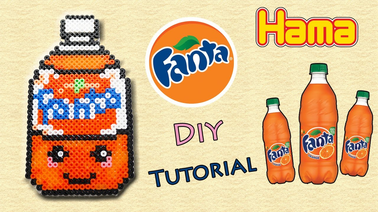 Fanta con Hama Beads. Peler Beads Drink Series Tutorial !