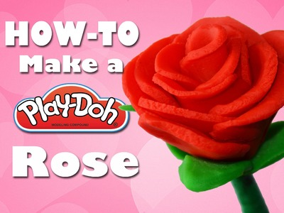 ❤️ HOW TO MAKE a Play-Doh rose ❤️ Handmade gifts for Valentine's Day! | The Ditzy Channel
