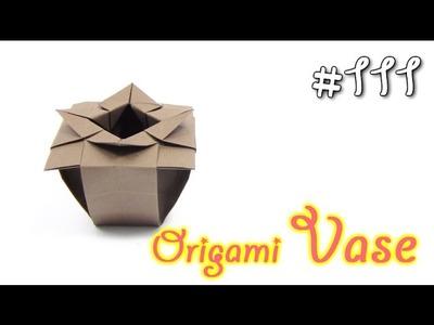 Origami VASE | Cómo hacer de florero de origami de papel