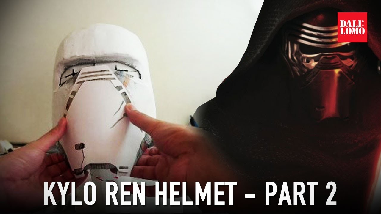 #110: Kylo Ren Helmet Part 2 - Papermache & Wall Filler | Star Wars 7 | Costume | How To | Dali DIY