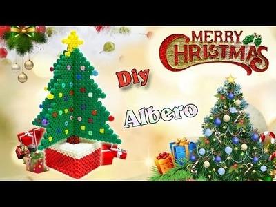 Albero di Natale 3D Hama Beads.Pyssla | DIY Christmas Tree Perler Beads