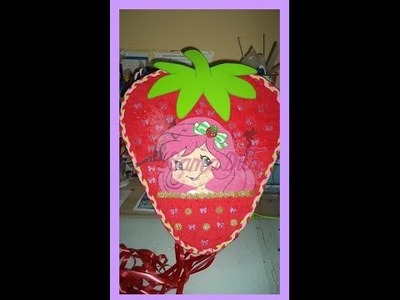 Como hacer Piñata Fresa 1ra Parte - DIY How to make a pinata strawberry shortcake