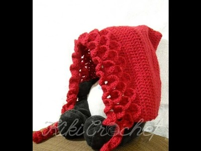 Crochet Crocodile Stitch Pixie Hat (english tutorial- pt1)