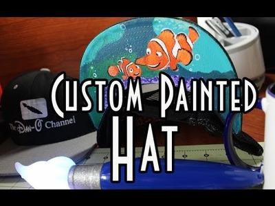 Disney DIY   Finding Nemo   Speed Painting on a Snapback Hat Disney Pixar