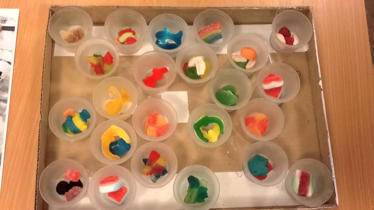 DIY advent calendar creation - loading candy in each compartment
