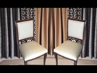 DIY: HOW TO REUPHOLSTER A DINING ROOM CHAIR - ALOWORLD