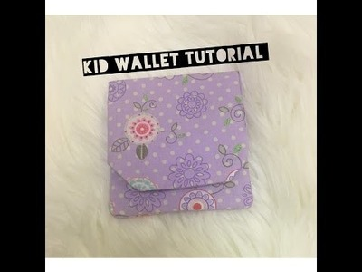 DIY: Kiddie Wallet Tutorial
