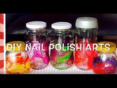 DIY Nail Polish Art. How to make cute and easy home craft ideas using nail polish
