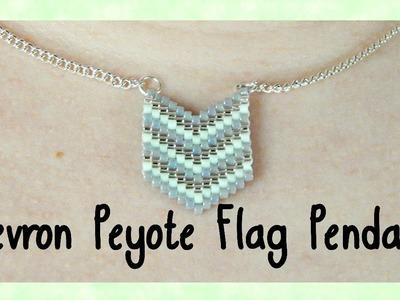 DIY Peyote Chevron Flag Pendant Tutorial. Bead Weaving. ¦ The Corner of Craft