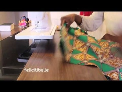 DIY Project by Felicitibelle: How to make a Reversible Cape Shawl; Behind the Seam