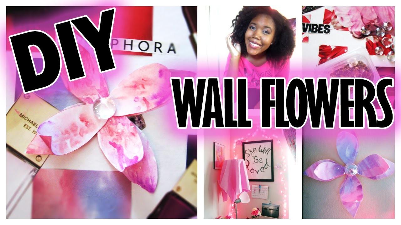 DIY Room Decor: Wall Flowers