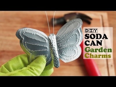 DIY Soda Can Garden Charms {Craft Project}