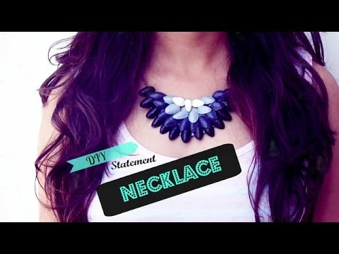 DIY Statement Necklace   Recycled   Handcrafted Curio