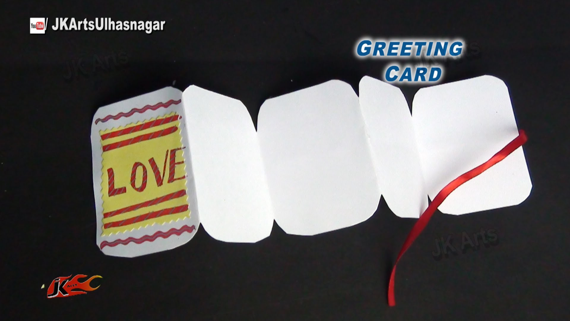 Easy Greeting card Tutorial | Valentine's day | JK Arts 867