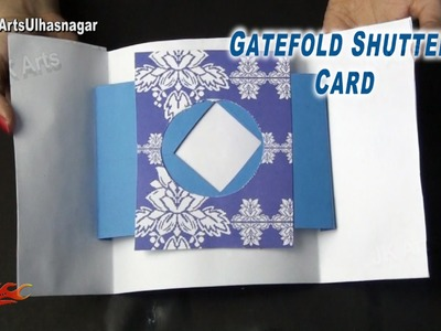 Gate Fold Shutter Card Tutorial | Valentine's day Card | How to make | JK Arts 878