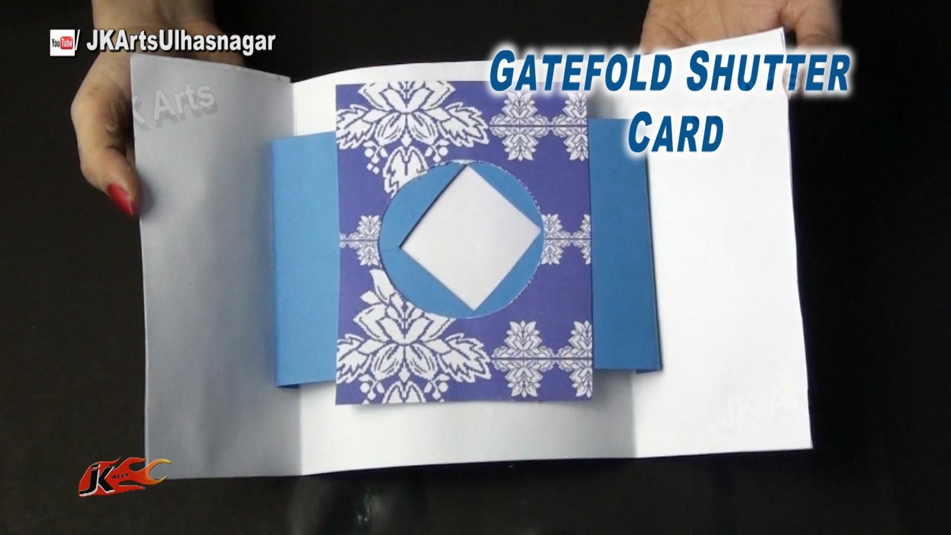 Gate Fold Shutter Card Tutorial   Valentine's day Card   How to make   JK Arts 878