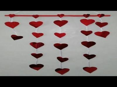 Guirnaldas de corazones manualidades tutorial DIY how to make garlands of hearts