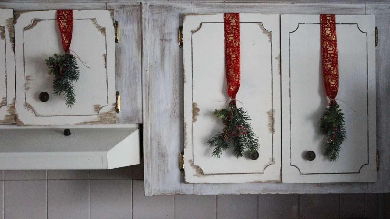 How To DIY Festive Cupboard Decor On The Cheap - DIY Home Tutorial - Guidecentral
