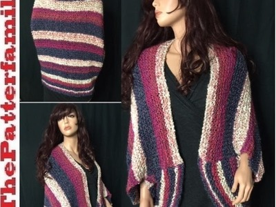 How to Knit a Oversized Shrug Pattern #6│by ThePatterfamily