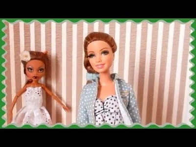 How to Make a Doll Dress  DIY tutorial Handmade Clothing for dolls