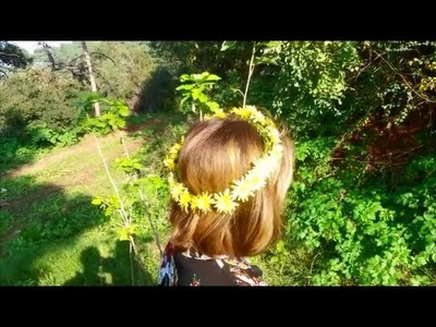 How to make a flower crown with real flowers. DIY
