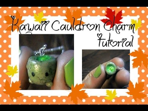 Kawaii Cauldron Charm Clay Tutorial