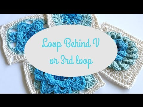 Loop Behind V or 3rd Loop crochet by Shelley Husband Spincushions