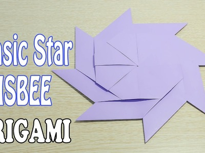 Magic Star Frisbee Origami : Transform Star into frisbee