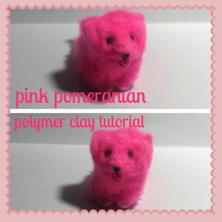 Miniature Pink Pomeranian-Polymer Clay Tutorial
