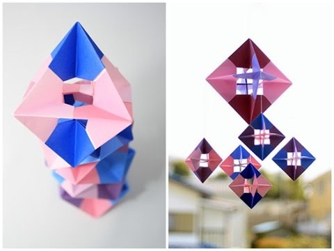 how to make a 3d octagon out of paper