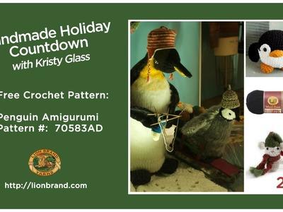 Perfect stocking stuffer, a penguin amigurumi!! Lion Brand's Handmade Holiday Countdown #22