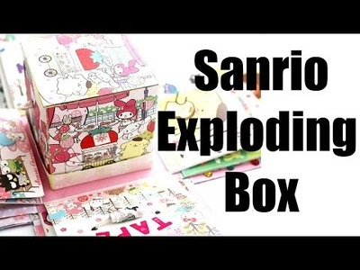 SANRIO Characters Exploding.Explosion Box. Kawaii Craft