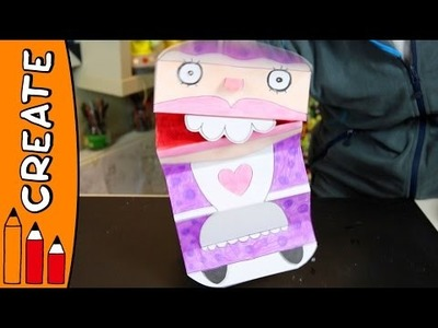Santa's Wife Hand Puppet | Christmas DIY Craft Ideas With Øistein