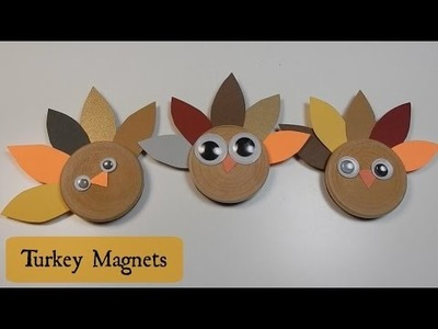 Turkey Craft for Kids Cute Magnets